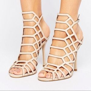 Steve Madden 'Slithur' Caged Heels in Army Green